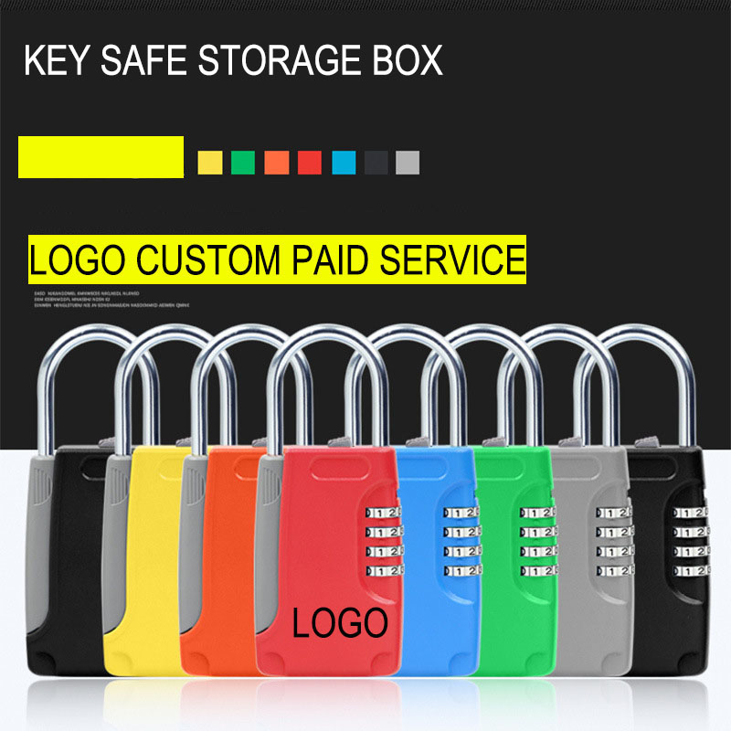 New Mini Key Safe Box 4-Digital Password Lock Mini Safes Metal Lock Can Be Use Car Home Decoration Company Office