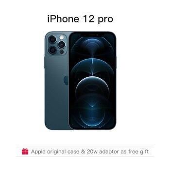 Перейти на Алиэкспресс и купить Оригинальный Совершенно новый iPhone 12 Pro/Pro Max 5G 6,1/6,7 дюймXDR дисплей с оригинальным адаптером в подарок смартфон IOS 14