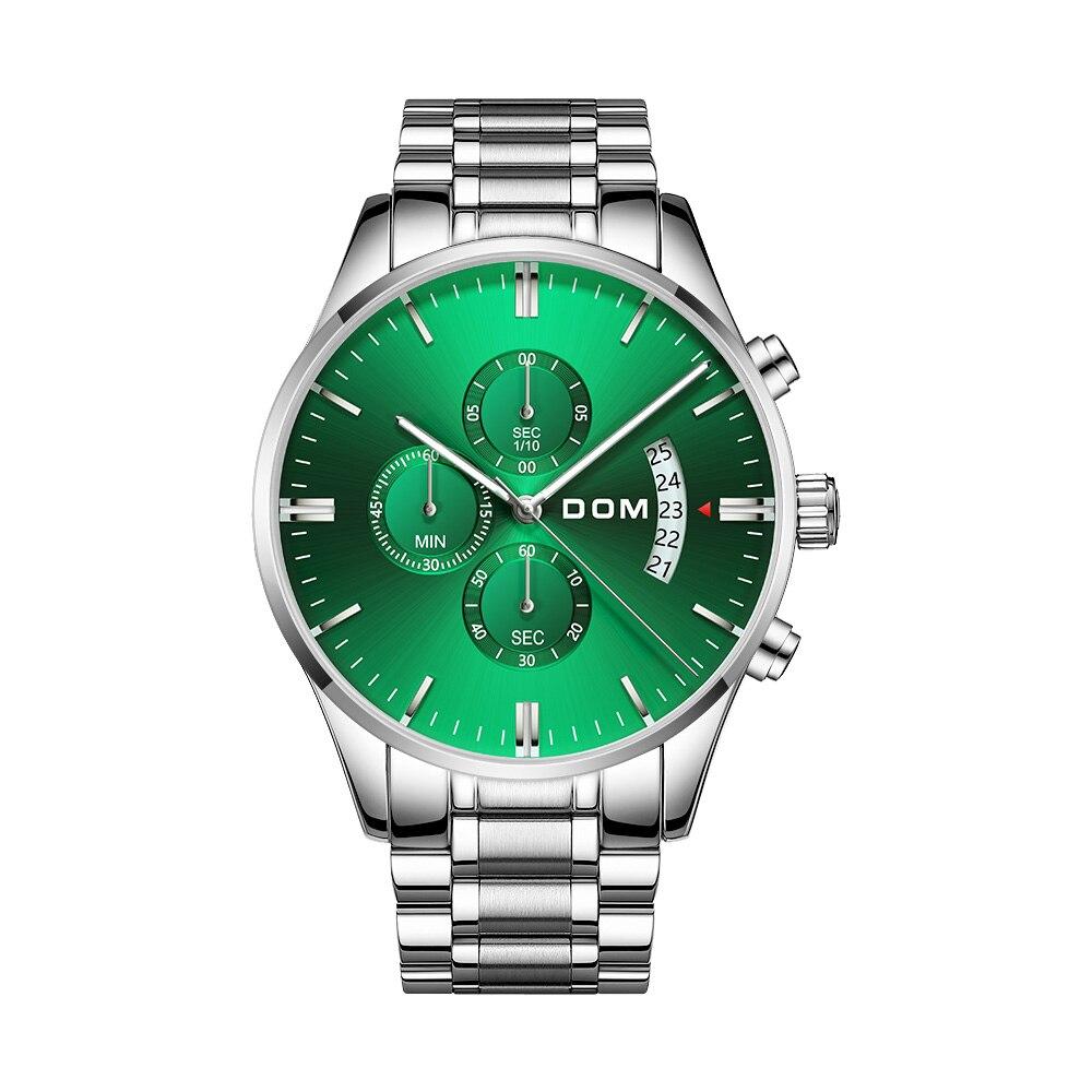 Watch DOM Automatic Mens Watch Top Brand Luxury Steel Belt Casual Waterproof Watch Men