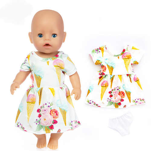 Doll Dress for 17 Inch  Baby New Born Doll 43cm Doll Clothes