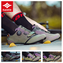SANTIC shoes Men Road Bike Cycling Shoes +10 Carbon Fiber Sole Ultralight Photochromism Vamp Self Lock Shoes PRO Racing Bicycle