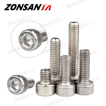 50pcs m2 m2 5 m3 m4 iso7380 stainless steel 304 round head screws mushroom hexagon hex socket button head screw bolt ZONSANTA Hexagon Hex Socket Cap Head Bolt M1.4 M1.6 M2 M2.5 M3 M4 M5 M6 M8 304 Stainless Steel DIN912 Allen Socket Head Screw