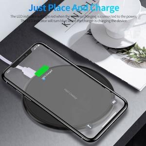 Image 3 - 10W hızlı kablosuz şarj için iphone 11 8 artı Qi kablosuz şarj pedi Samsung S10 Huawei P30 Pro telefon şarj adaptörü