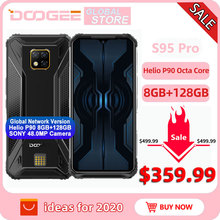IP68/IP69K DOOGEE S95 Pro Helio P90 Octa Core 8GB 128GB Modular Rugged Mobile Phone 6.3inch Display 5150mAh 48MP Cam Android 9
