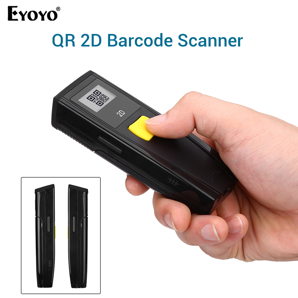 Eyoyo GT780 1D 2D QR Barcode Scanner Portable BT 3.0 Bar Code Reader Work with Mobile Phones Tablet PC Portable|Scanners| |  - title=
