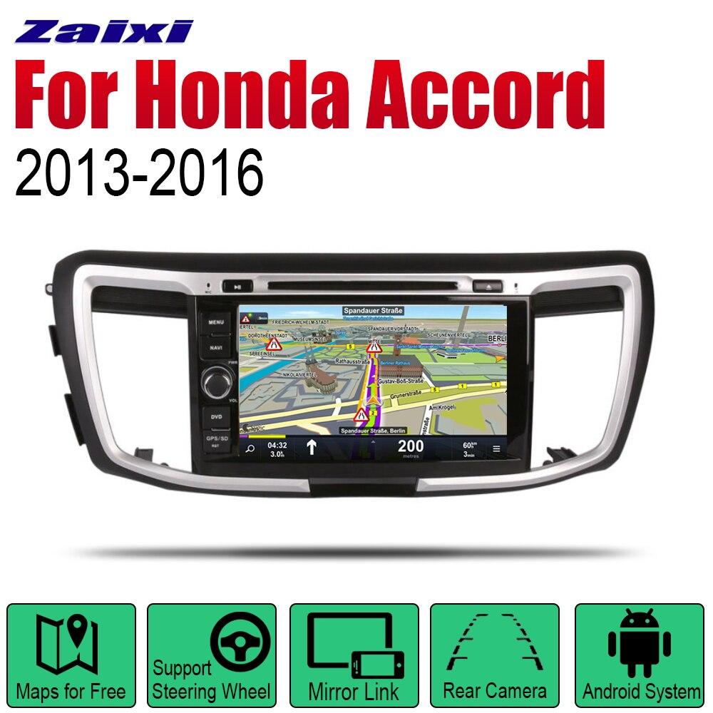 Radio samochodowe 2 Din Android samochodowy odtwarzacz dvd odtwarzacz dla Honda Accord 2013 ~ 2016 nawigacja GPS BT Wifi mapa system multimedialny Stereo
