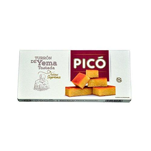 Picó - Turron De Yema Tostada, Nougat Egg Folk - Supreme Quality - 300gr (No Gluten) - Spanish Product / Nougat Spanish