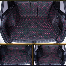 Special custom made Car trunk mats cargo Liner for Land Rover Discovery freelander Sport Range leather Anti-slip car-styling car(China)
