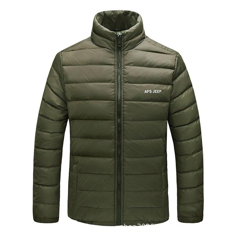 Outdoor Men'S Wear Down Feather Liner Two-Piece Set Breathable Raincoat Jacket Waterproof Windproof Warm Anorak Work Clothes