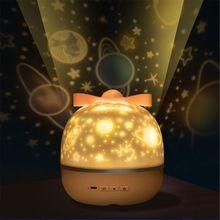 Nightlight-Lamp Projector-Star Moon-Night-Light Baby Kids New LED Sky for Bedroom Nursery-C