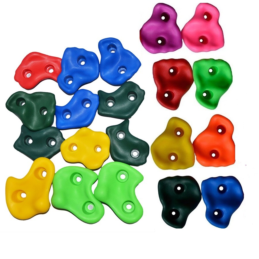 15Pcs/Set Climbing Rock Wall Stones Assorted Color For Kids Rock Climbing Wall Stones Hand Feet Holds Grip Kits