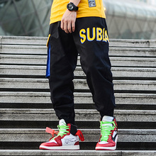 Fashion Streetwear Men Joggers Casual Loose Fit Big Pocket Cargo Pants Printed Designer Skateboard Trousers Hip Hop