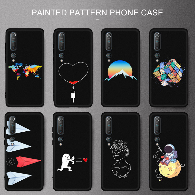 TPU Soft Pattern Case For Xiaomi Mi 10 Note 10 9T 9 Poco F2 Pro Lite 9 SE A3 Lite CC9 Pro Phone Case Protective Back Cover Capa