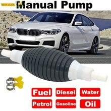 Universel manuel pompe à essence ligne main amorce ampoule eau huile essence essence Diesel liquide transfert pour voiture moto et bateau