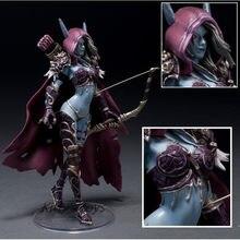 14cm wow figura de ação brinquedos sylvanas windrunner dark ranger senhora pvc wow figura para coleção annie brinquedos modelo ka0444