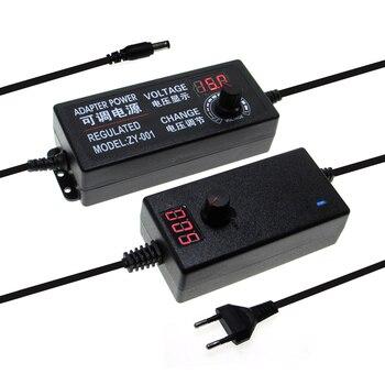 조정 가능한 AC 전원 공급 장치 3V 5V 6V 9V 12 V 15V 18V 24V 1A 2A 5A 전원 어댑터 범용 220V 12 V 볼트 어댑터