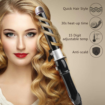 Automatic Rotating Hair Curler Household Travel Ceramic Curling Iron For The Lazy Fast Heating Auto Hair Styling Tools image