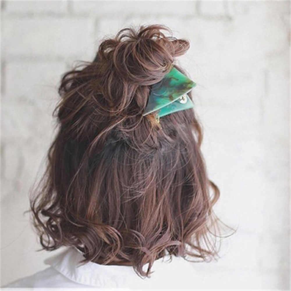 Vintage Emerald Serie Geometrische Driehoek Haarspelden En Greep Clip Vrouw Persoonlijkheid Temperament Haar Clip Haar Accessoires