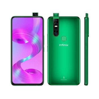 Перейти на Алиэкспресс и купить Совершенно новый Infinix S5 Pro 4G LTE мобильный телефон 6,53 дюйм4 ГБ ОЗУ 64 Гб ПЗУ Восьмиядерный Android 10,0 две sim-карты отпечаток пальца смартфон