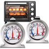 Stainless Steel Oven Thermometer 50-300°C/100-600°F Kitchen Food Meat Dial Thermometer Grill Temperature Gauge For BBQ Baking 1