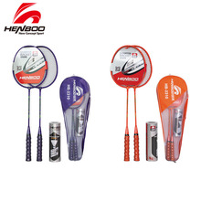 купить HENBOO Iron Alloy Badminton Racket Set Family Double Professional Badminton Racket Lightest Durable Standard Use Badminton 2310 по цене 886.35 рублей