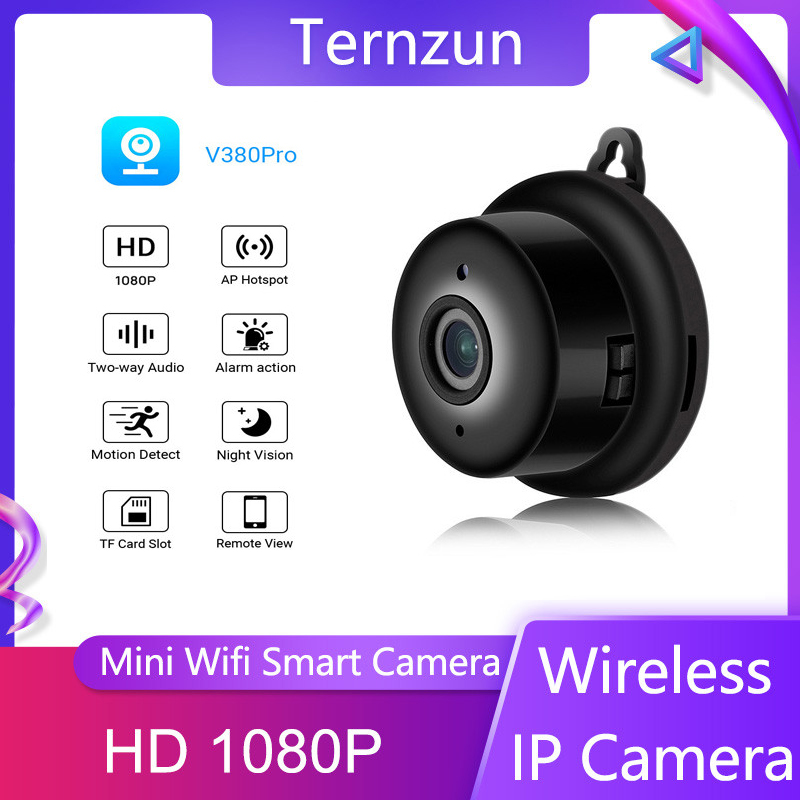 Mini Wifi IP Camera HD 1080P Wireless Camera Home Security Monitor IR Night Vision Motion Detection App Remote Two-Way Audio