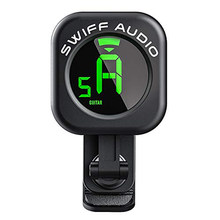 SWIFF Guitar Tuner Clip-On High Precision Micro Tuner Auto-Off Tuner for All 12 String Instruments Bass Ukulele Violin Chromatic