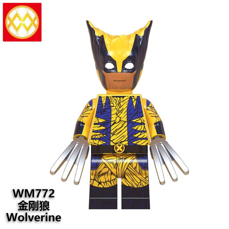ขายเดียว Wolverine เครื่องแต่งกาย Thanos กัปตันอเมริกา Batman Bucky Deadpool Hulk Thor Building Blocks ของเล่น WM6070 จัดส่งฟรี