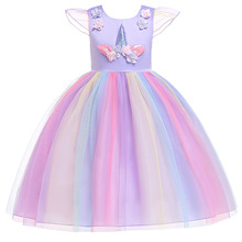 thanksgiving dress for baby girls 2019 Party Unicorn Princess Dress Children Costume  2-6T christmas new years eve