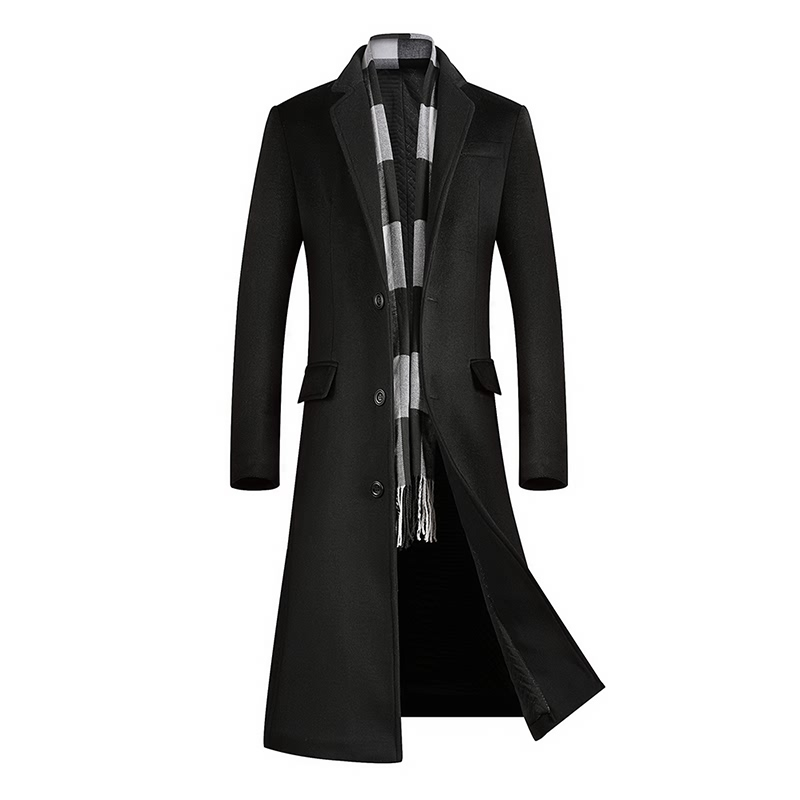 Coat Cashmere-Coat Woolen Men's Winter Clothing Windbreaker