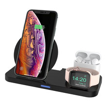 Labobbon 3 in 1 15W Wirless Charger iPhone For iPhone 12 Apple iWatch Airpod Pro Samsung Phone L13B
