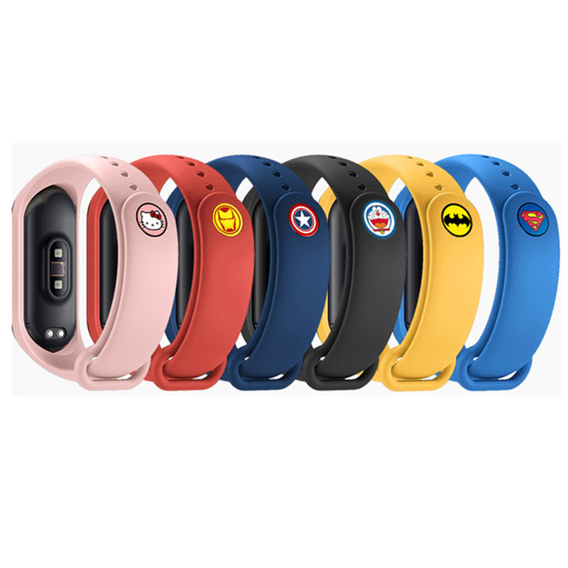 NEW Anime Hero Bracelet For Mi Band 4 Strap For Xiaomi Mi Band 4 3 Nfc Smart Band Wristband Silicone Straps For Miband 4 / 3