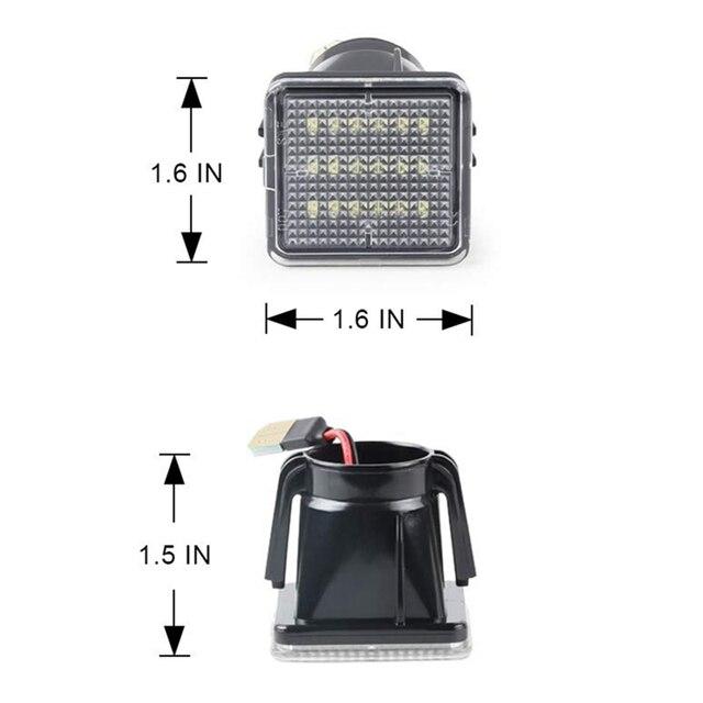 2 pces conduziu o conjunto da lâmpada da luz da placa de licença para toyota-tundra 2014 a 2019 para toyota tacoma 2016 a 2019, alimentado pelo xênon 18smd