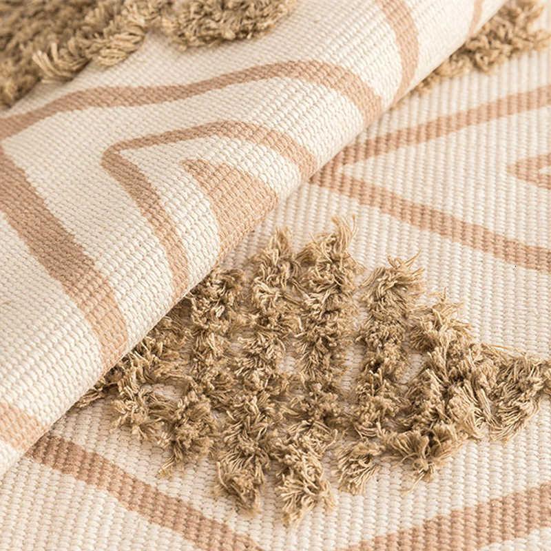 모로코 목화 손으로 짠 카펫 Tufted Tassels 층 매트 침실 태피스 트리 담요 거실 카펫 지역 깔개 Tapete 파라 Sala