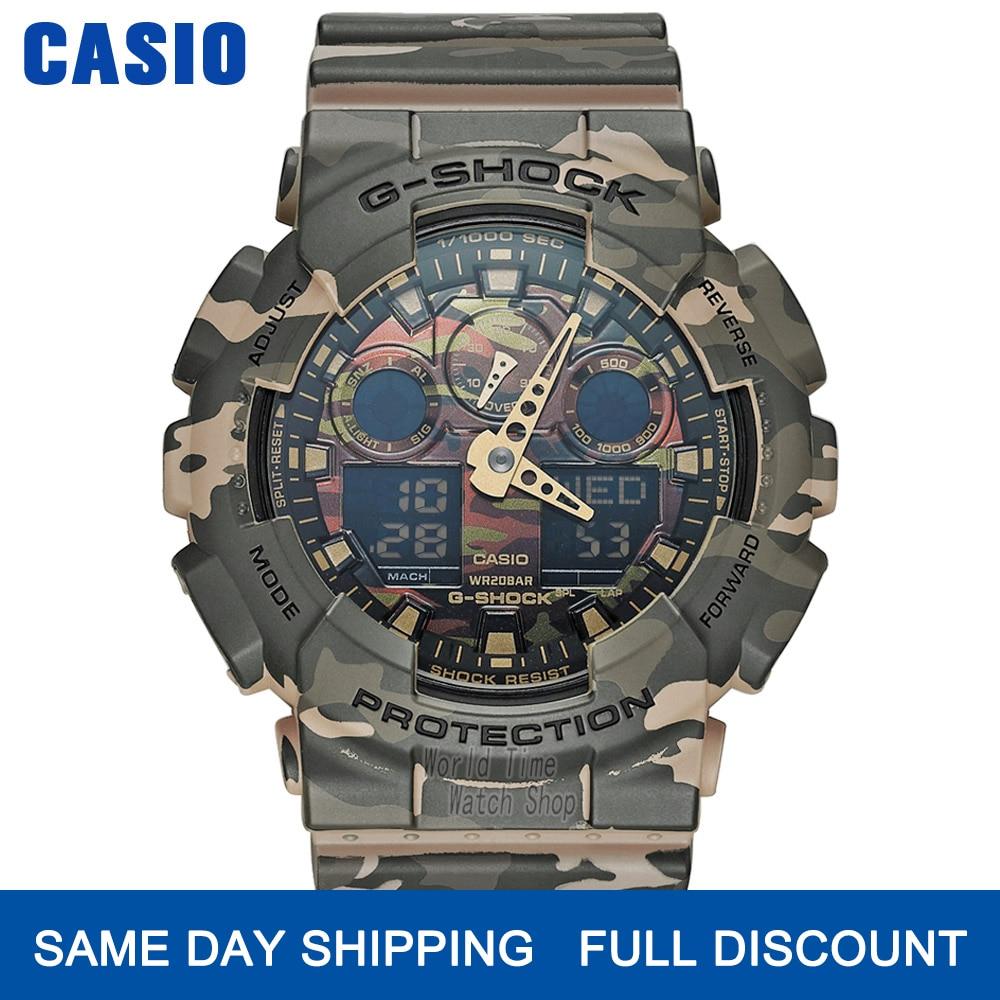 Casio reloj g reloj de choque hombres de primeras marcas de lujo LED militar reloj digital deportivo reloj de cuarzo resistente al agua reloj de los hombres Limited relogio masculino erkek kol saati montre hommeGA100