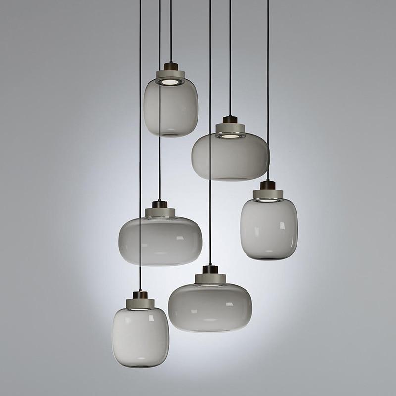 Luminaria Deco Maison Glass Ball  Restaurant  LED  Pendant Lights  Living Room  Pendant Lights Deco Chambre Hanglamp