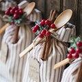 100 шт. искусственные красные ягоды Падуба, новогодние и рождественские украшения, рождественские украшения для дома, рождественские украше...