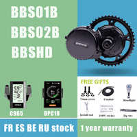 BAFANG BBS01B BBS02B BBSHD 36V 48V 52V 250W 350W 500W 750W 1000W Mid Drive Motor 8fun Electric Motor Bicycle Conversion Kits C18