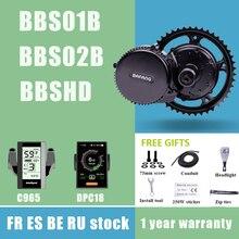 BAFANG BBS01B BBS02B BBSHD 36V 48V 52V 250W 350W 500W 750W 1000 Вт середине приводной двигатель 8fun Электрический мотор велосипедные комплекты для конверсии C18