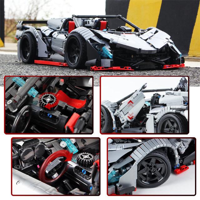 3427pcs Creator RC/non-RC Sports Car MOC Supercar Building Blocks City Technic Remote Control Racing Vehicle Bricks Toys for Boy