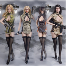 цены FG061 1/6 Sexy Female Clothes Accessory Chinese Wind Cheongsam Maiden Suit Model for 12 inches Action Figure Body