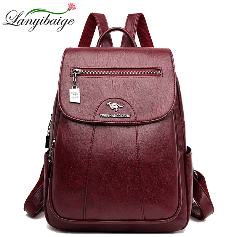 Women Backpacks High Quality Pu Leather School Backpacks For Girls High Capacity Travel Backpack Leisure Shoulder Bags Mochila