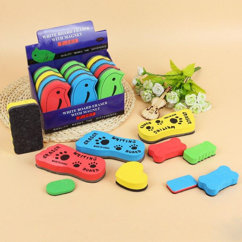 1 PCS Random Sponge Erasable Whiteboard Eraser For Magnetic White Board Colored Marker Chalk Erasers Kawaii Blackboard Cleaner