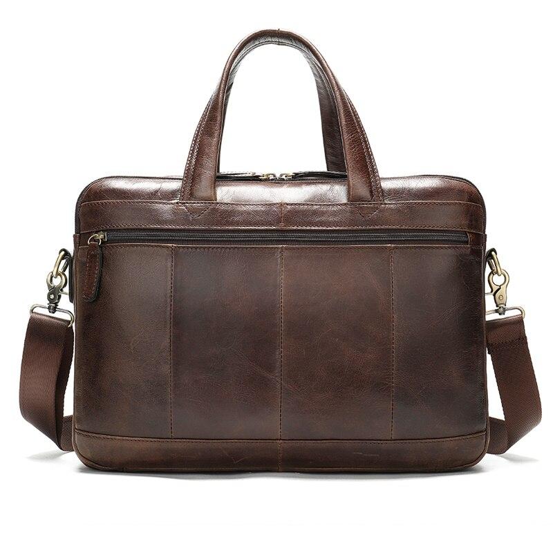 Maletín WESTAL para hombres de negocios, maletín para ordenador portátil, bolso de cuero para hombres, bolso de trabajo de cuero genuino/bolsos de oficina para hombres, maletín para hombre - 3