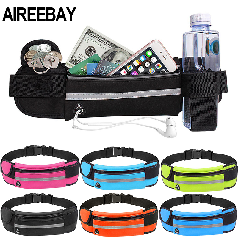 AIREEBAY Waist Pack Men Women Fashion Waterproof Fanny Pack Phone Belt Casual Small Bag For Traveling Running Sport Bum Bag