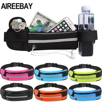 AIREEBAY Waist Pack Men Women Fashion Waterproof Fanny Pack Phone Belt Casual Small Bag For Traveling Running Sport Bum Bag