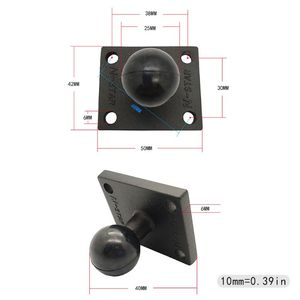 Image 5 - Aluminum Square Mount Base with Ball Head for Ram Mount for Garmin Zumo/TomTom