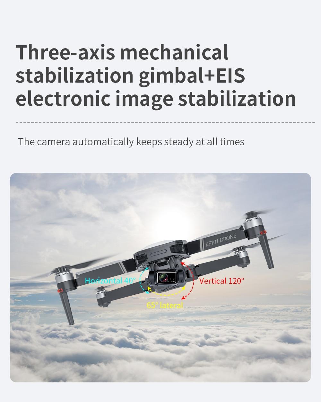 Ha272ce46aa3e43b7a5e159d736b3b67eO - New KF101 GPS Drone 4K Professional 8K HD EIS Camera Anti-Shake 3-Axis Gimbal 5G Wifi Brushless Motor RC Foldable Quadcopter
