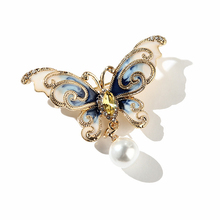 Creative Animal Simple Drop oil Enamel Alloy Butterfly Brooch Pin for Elegant Women Clothing Pins