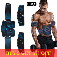 USB charge Abdominal Muscle Stimulator Trainer EMS Abs Fitness Equipment Training Gear Muscles Electrostimulator Toner Exercise